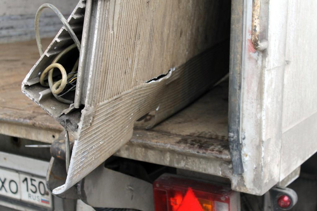 Деформации аппарели фургона
