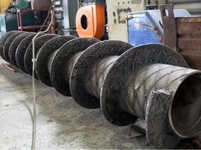 Изготовление шнеков выгрузки золы для мусоросжигающего завода