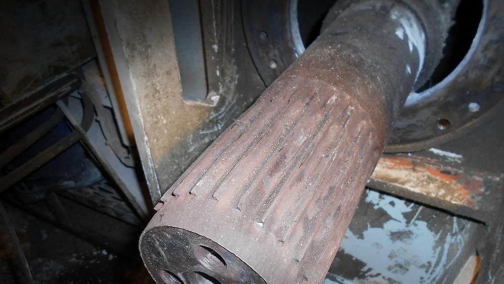 Восстановление шлицевых частей хвостовика вала и муфты бетоносмесителя Liebherr