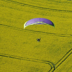 #paramotoring in #france through  the #countryside