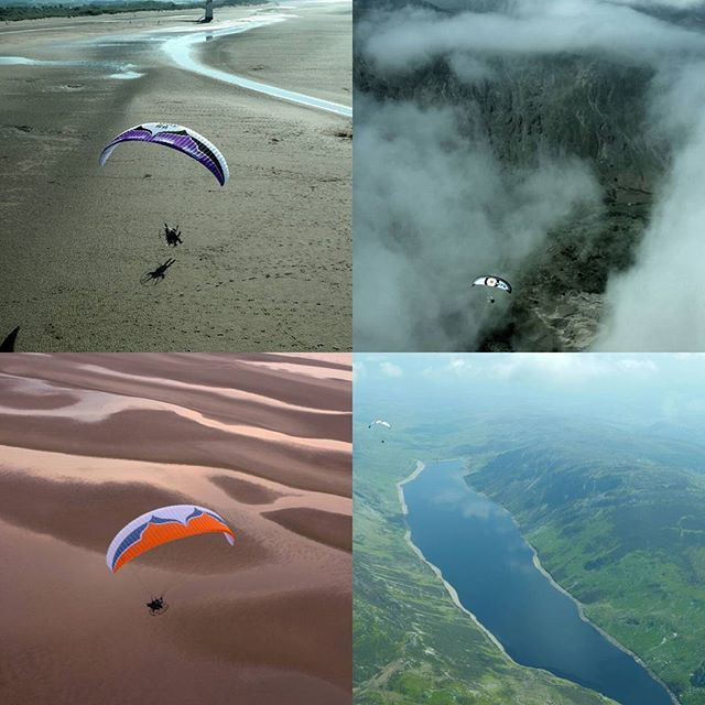 Out #paramotoring in #nwales over #snowdonia