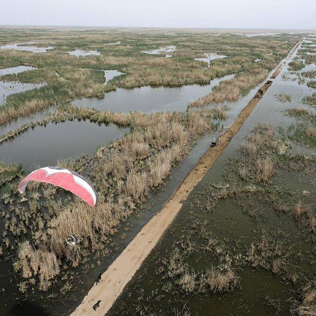 Enjoying # flying the marshes in Iraq