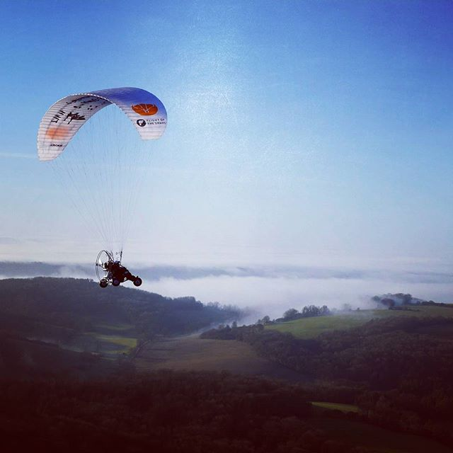#flying the #southdowns on a #paramotor.The #winter is a great way to enjoy the #skies
