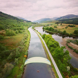Just another 60 miles to #Inverness on our #paramotors #flying over the #canadoniancanal and #lochne