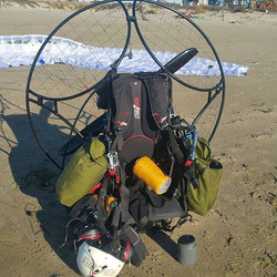 #paramotoring equipment is heavy and cumbersome