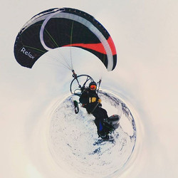 Too cold to fly a #paramotor.Time to fly a #paratrike