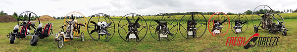 paramotor produced by Fres Breeze