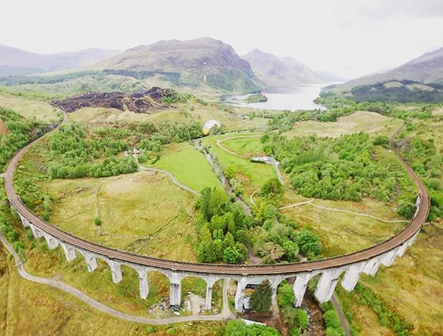 #Flying the #GlenfinnanViaduct  As seen in #harrypotter .A great site from the air
