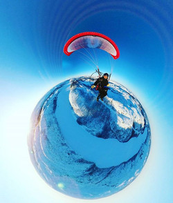 Feeling #tiny in #tinyplanet in the #arcticcircle #ppg #paramotor #lapland #finland #finmark #norway