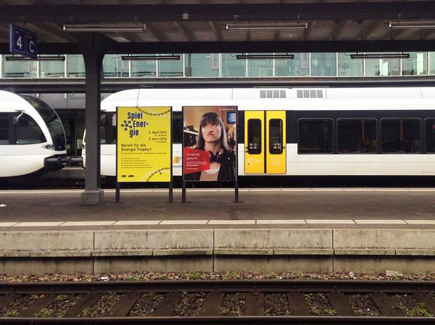 Öffentliche Info-Plakate