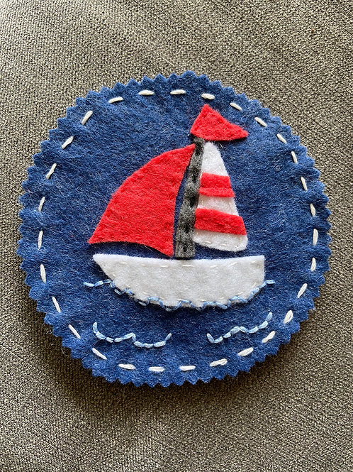 Coaster set for Sail boad