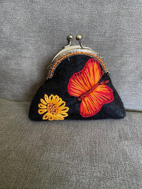 "Vintage Beach Wallet ""Butterfly"""