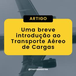 Uma breve introdução ao Transporte Aéreo de Cargas