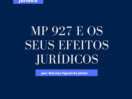 MP 927 E OS SEUS EFEITOS JURÍDICOS