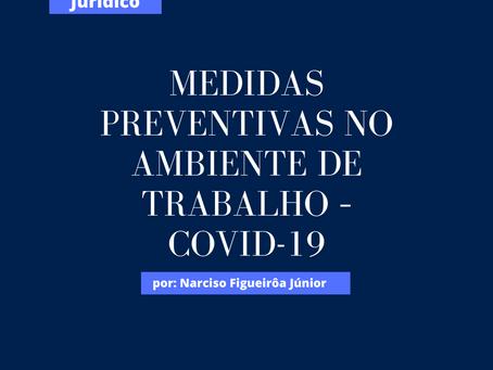 Medidas preventivas no ambiente de trabalho – covid-19