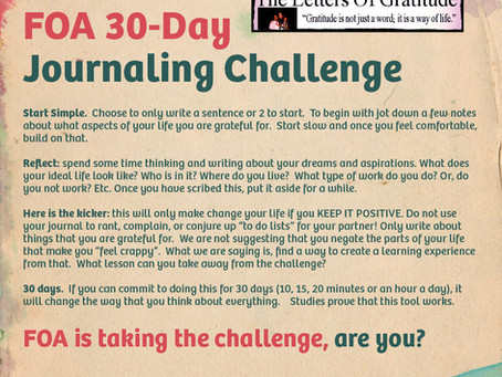 30-Day Letters of Gratitude Challenge