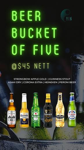 IGS Yin Beer Bucket Happy Hour Promo NEW
