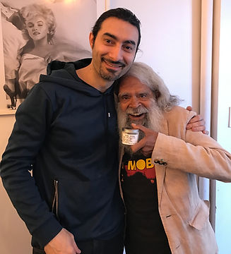 Uncle Jack Charles with Dima Arabo