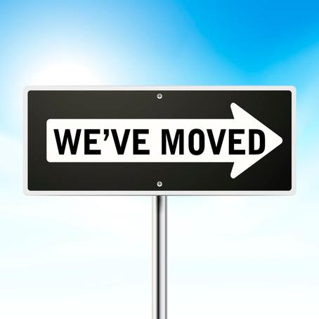 We've moved - Wir sind umgezogen