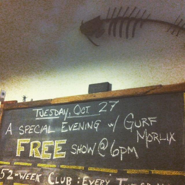Catfish says 'Get Here.' The legendary Gurf Morlix, all night long