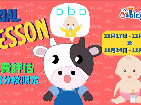 Babington 大埔分校 體驗課(免費)17/11 - 28/11