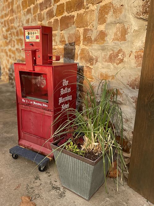Antique Dallas Morning News ~ Paper Vending Machine