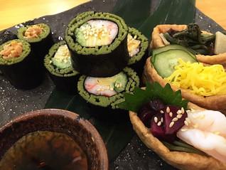 『茶そば寿司』