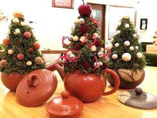 お茶屋のクリスマスツリー!