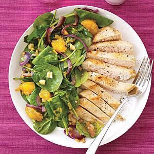 Kureci salat s mandarinkami