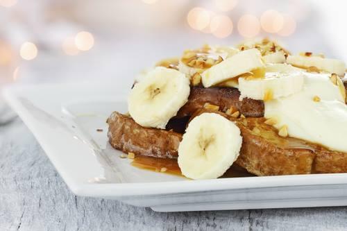 Toast v bananovem testicku hubnuti
