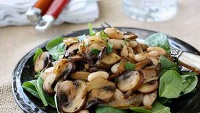 Salát sžampiony na česneku a majoránce recept