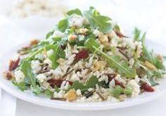 Salát shovězím masem, kaki a rýží recept