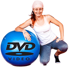 Video DVD cvičení na gymnastickém míči od Danči
