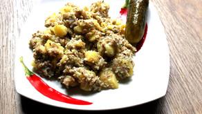 Zahřívací šťouchané brambory spohankou recept