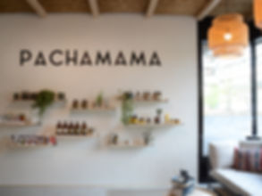 canapé Pachamama produits au mur