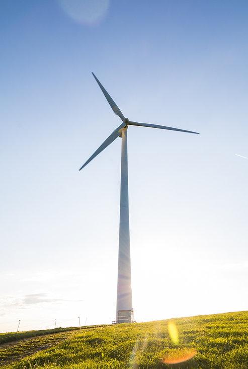 électricité verte éolienne nature