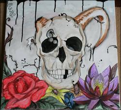 Skull in flowers - 2010 - web