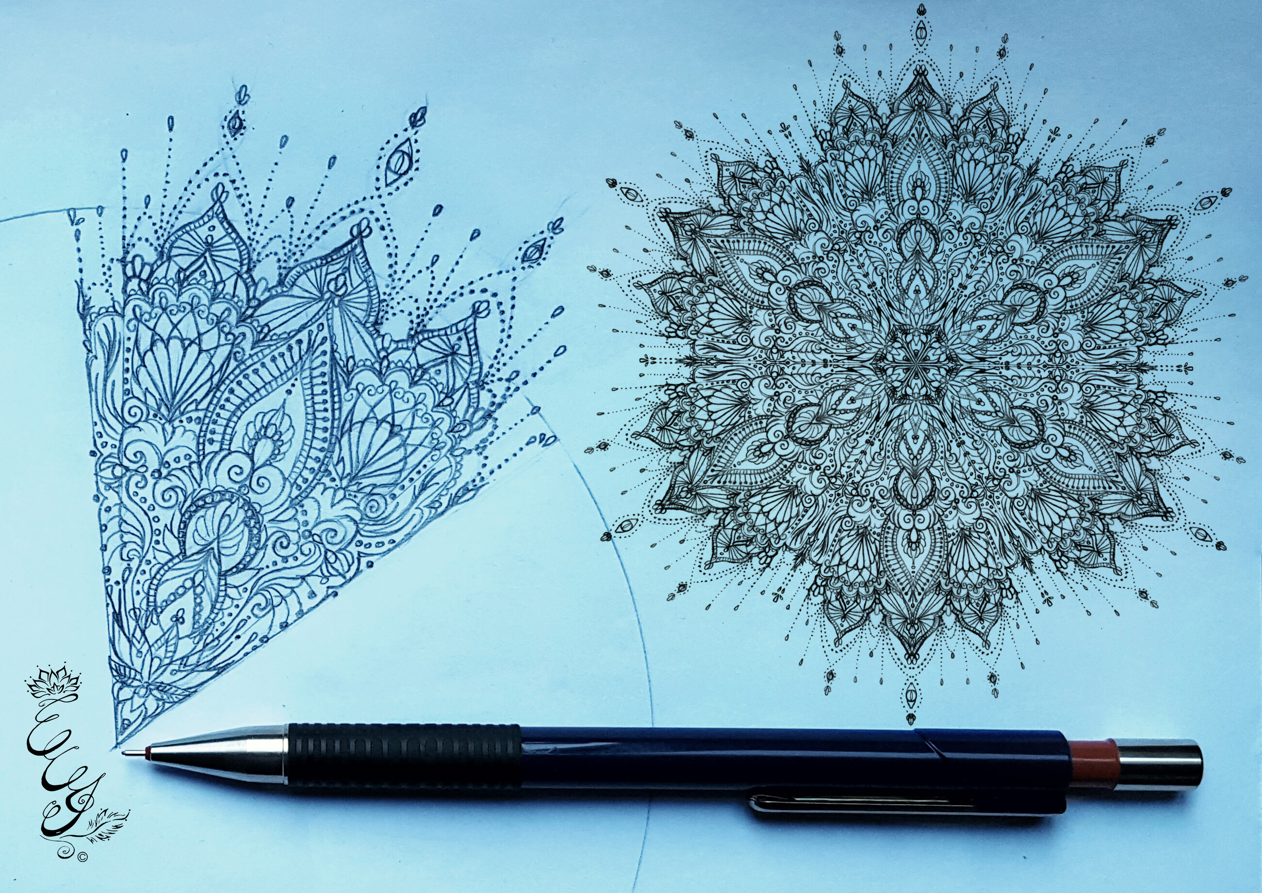 Mandala sketch - 2015 - web