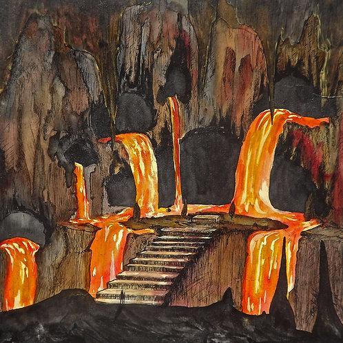 Fire Cave (PRINT) by Ben Yockel