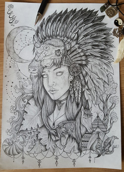 Selfportrait drawing - 2016 - web