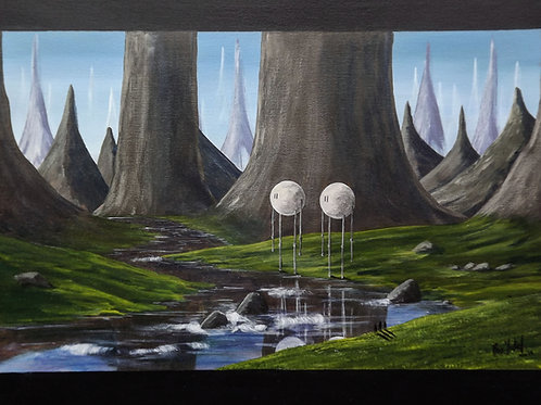 By the River They Stand (PRINT) by Ben Yockel