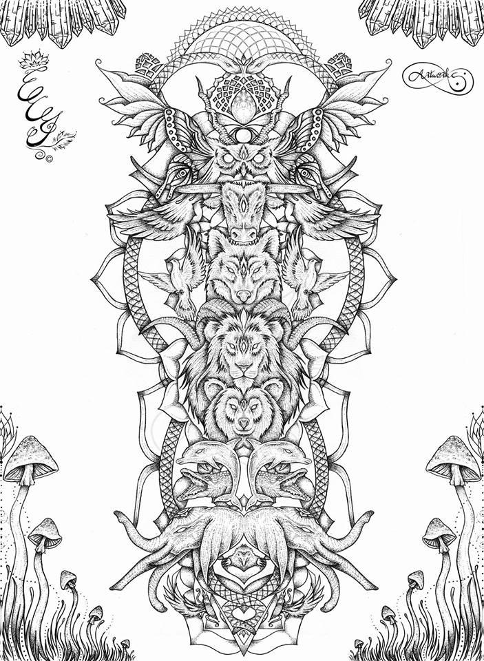 Chakra Animal Totem BW - 2016 - web
