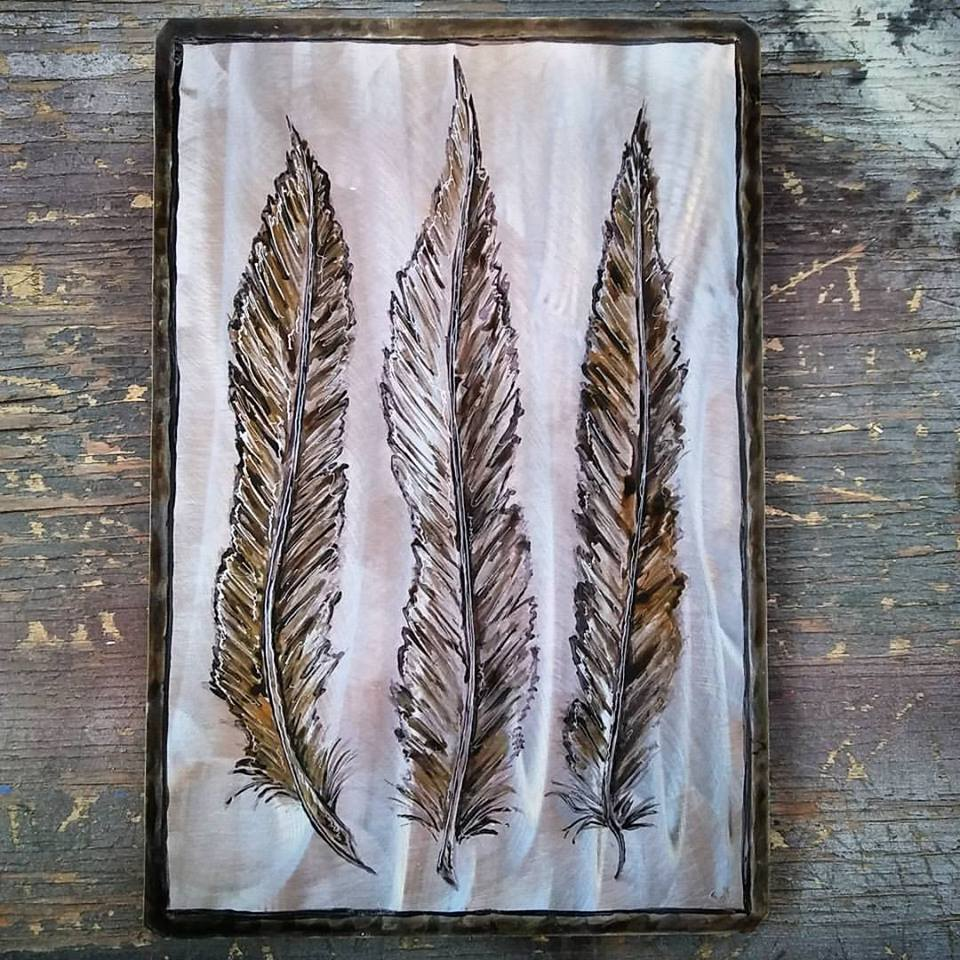 Feathers $40.00 16.5x11
