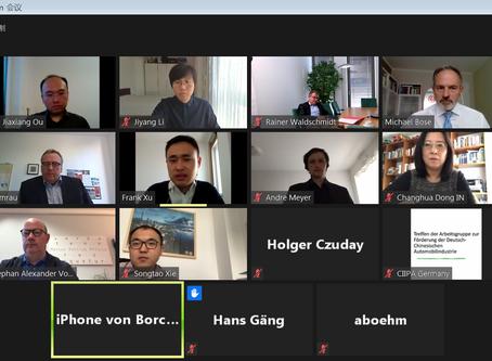 Online-Treffen der Arbeitsgruppe zur Förderung der deutsch-chinesischen Automobilindustrie