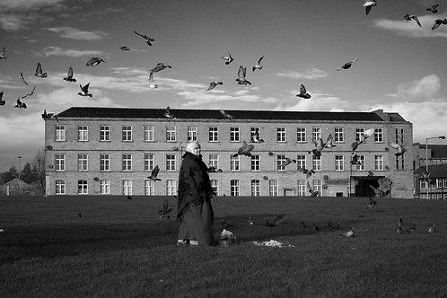 A4 Print - Lady with Birds, Bradford