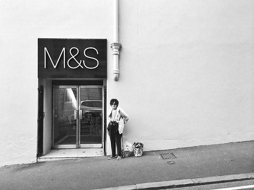 A4 Print - Lady Outside M&S