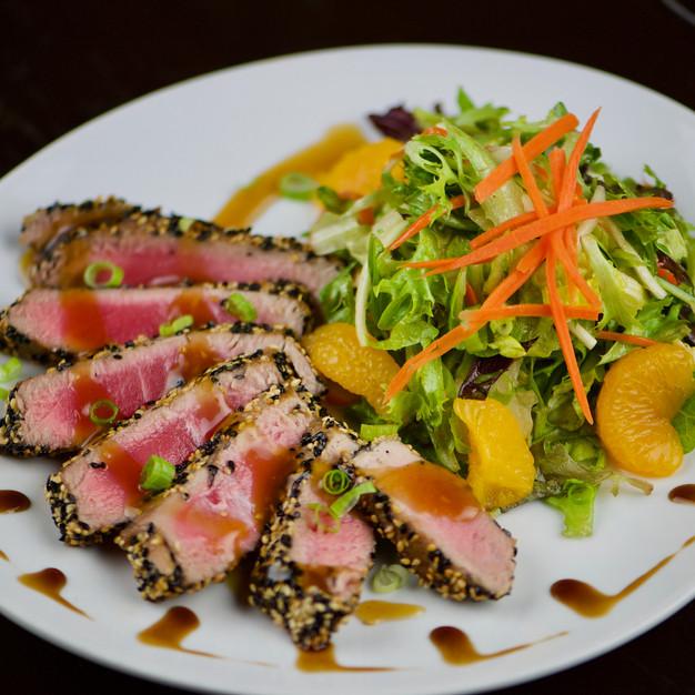 Pan-Seared Sesame Tuna Salad