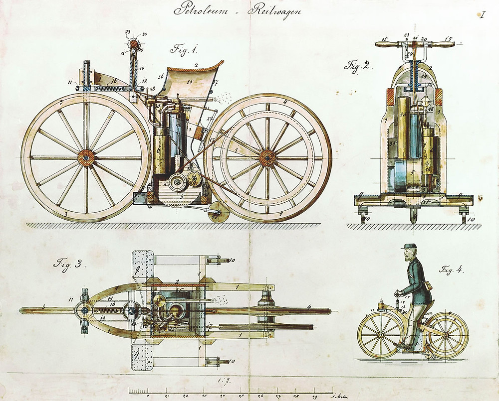 História da Primeira Motocicleta