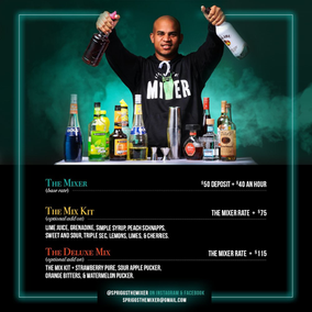 Spriggs The Mixer Pricing Flyer