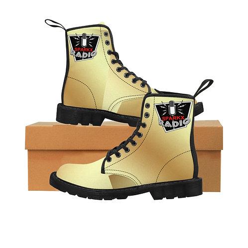 Sparkx Men's Martin Boots Black